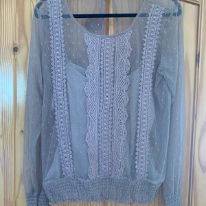 Maurices sheer xl blouse